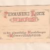 396.) Permanenz-Karte für den Stifter um 1880
